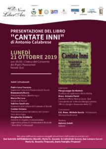 Locandina Cantate Inni - Tonio Calabrese